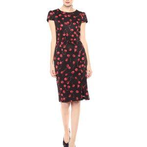 Betsey Johnson Cherry Print Sheath Dress 6